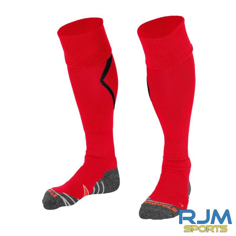 Coatbridge Rovers FC Stanno Forza Home Socks Red Black