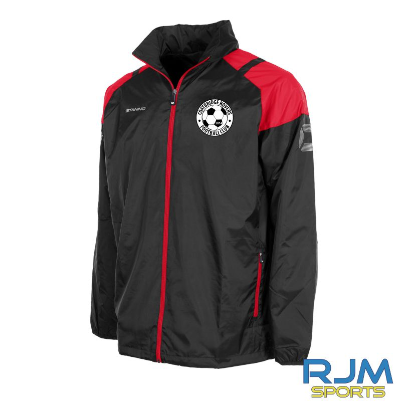 Coatbridge Rovers FC Stanno Centro All Weather Jacket Black Red
