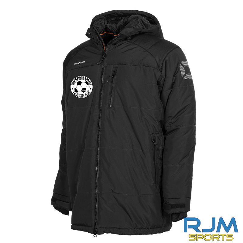 Coatbridge Rovers FC Stanno Centro Padded Coach Jacket Black