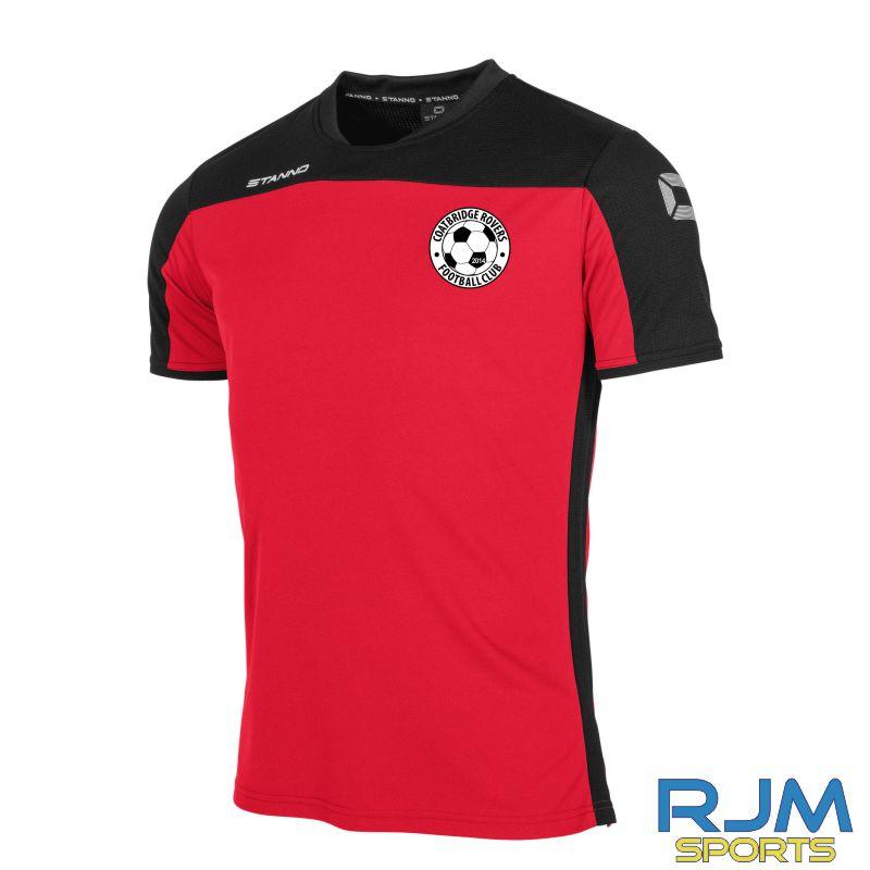 Coatbridge Rovers FC Stanno Pride T-Shirt Red Black