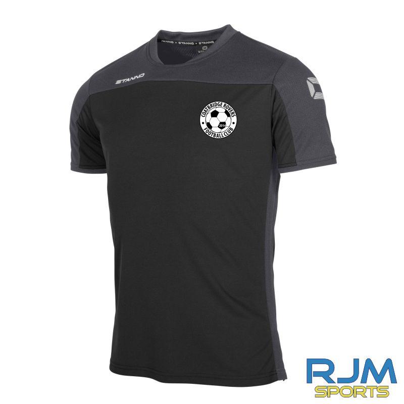 Coatbridge Rovers FC Stanno Pride T-Shirt Black Anthracite
