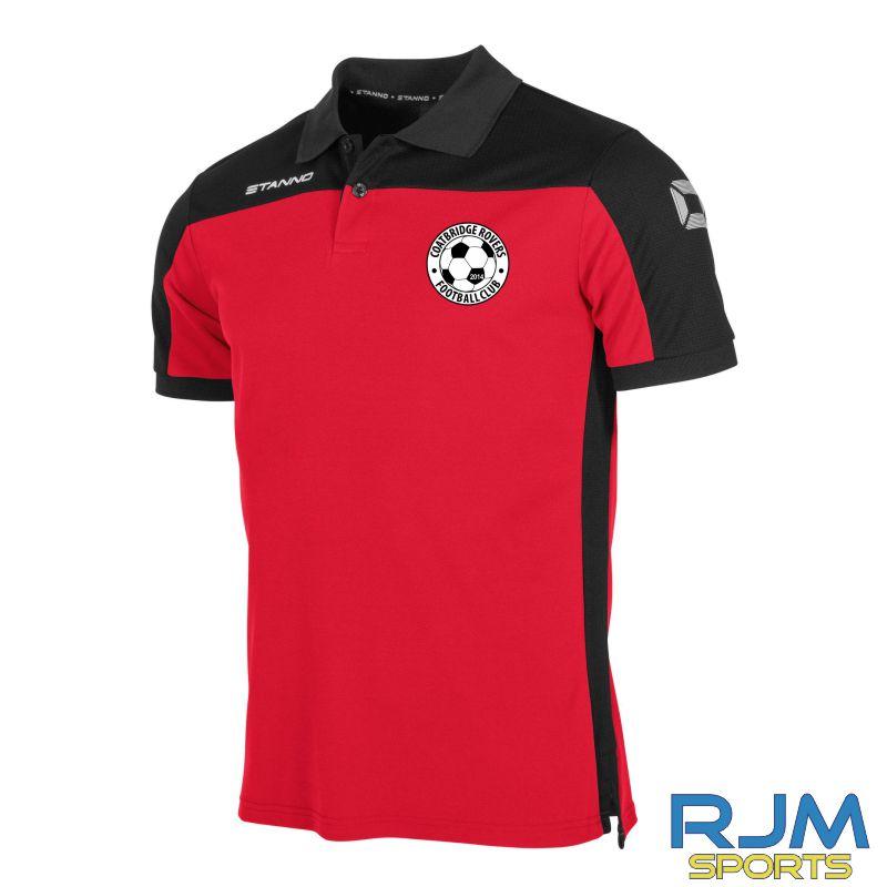 Coatbridge Rovers FC Stanno Pride Polo Red Black