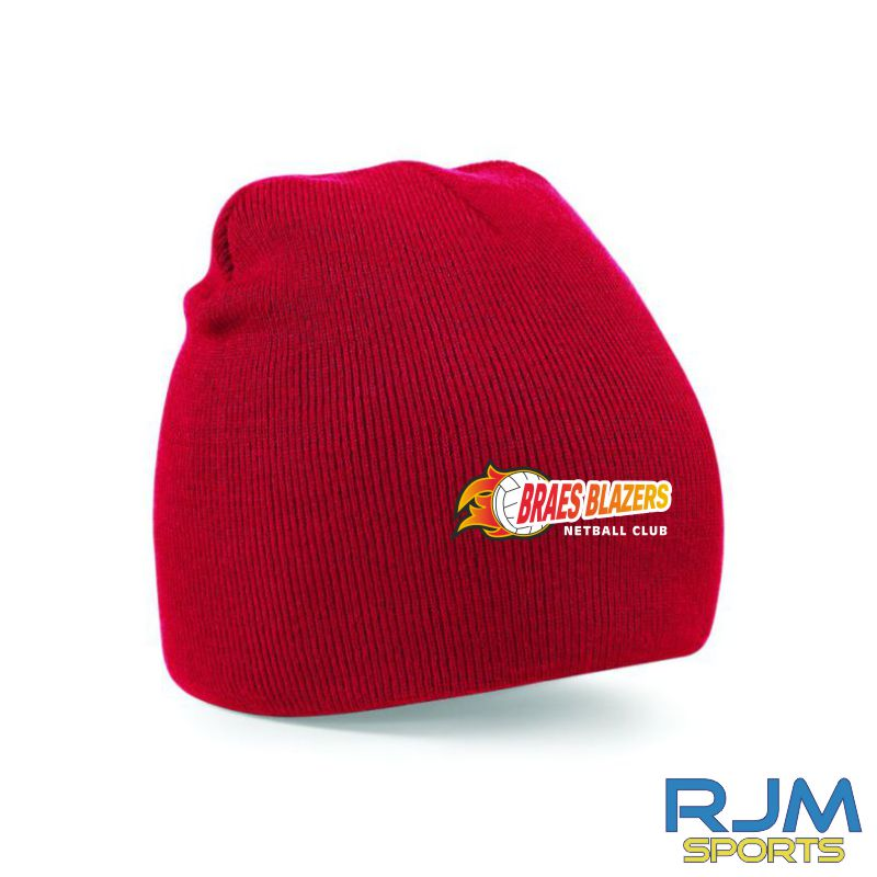 Braes Blazers Beechfield Beanie Hat Red