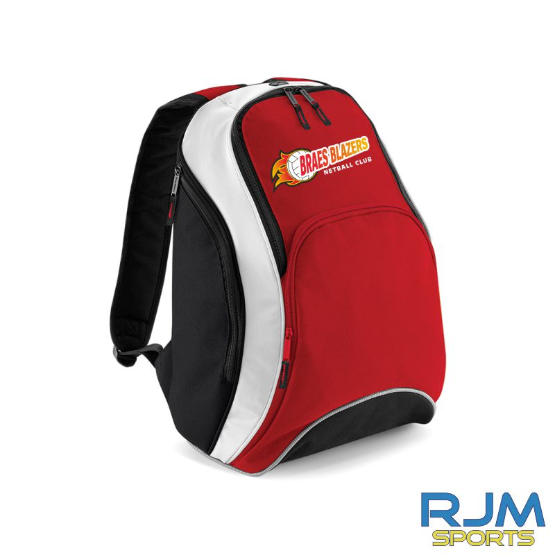 Braes Blazers Bag Base Backpack Black Red White