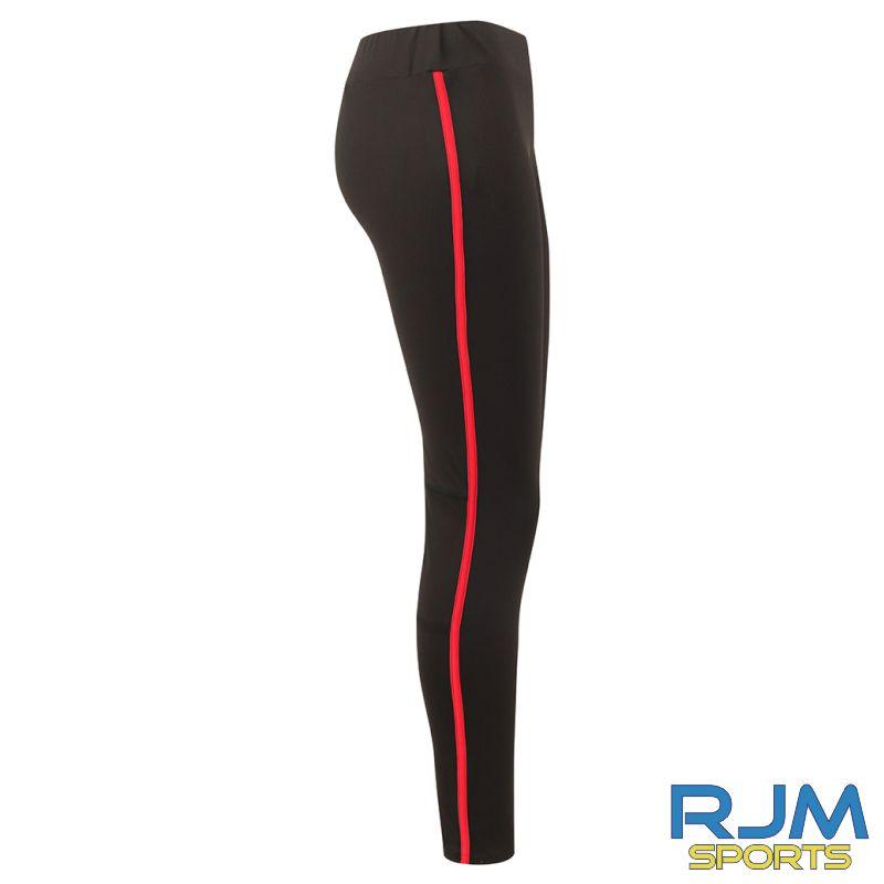 Braes Blazers Finden & Hales Ladies Contrast Leggings Black Red