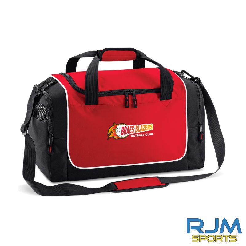 Braes Blazers Quadra Locker Bag Red Black White