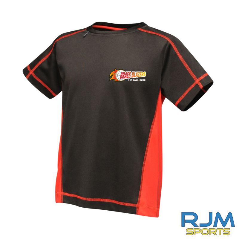 Braes Blazers Regatta Sport Kids Bejing T-Shirt Black Red