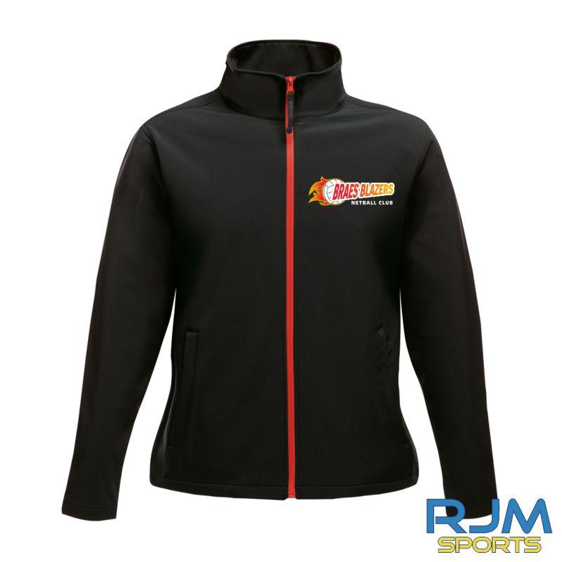 Braes Blazers Regatta Ladies Soft Shell Jacket Black Red