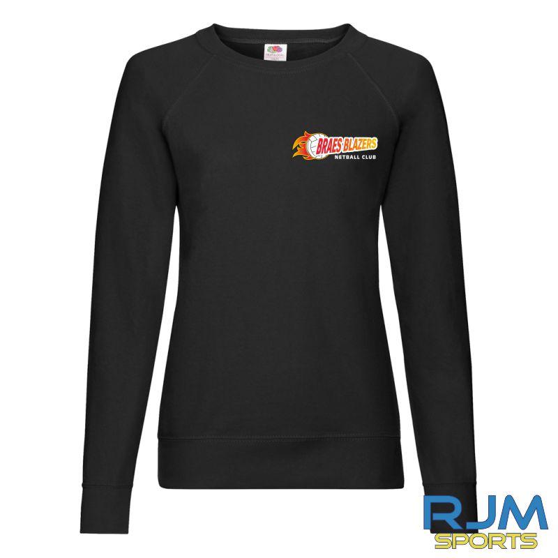 Braes Blazers FOTL Ladies Sweatshirt Black