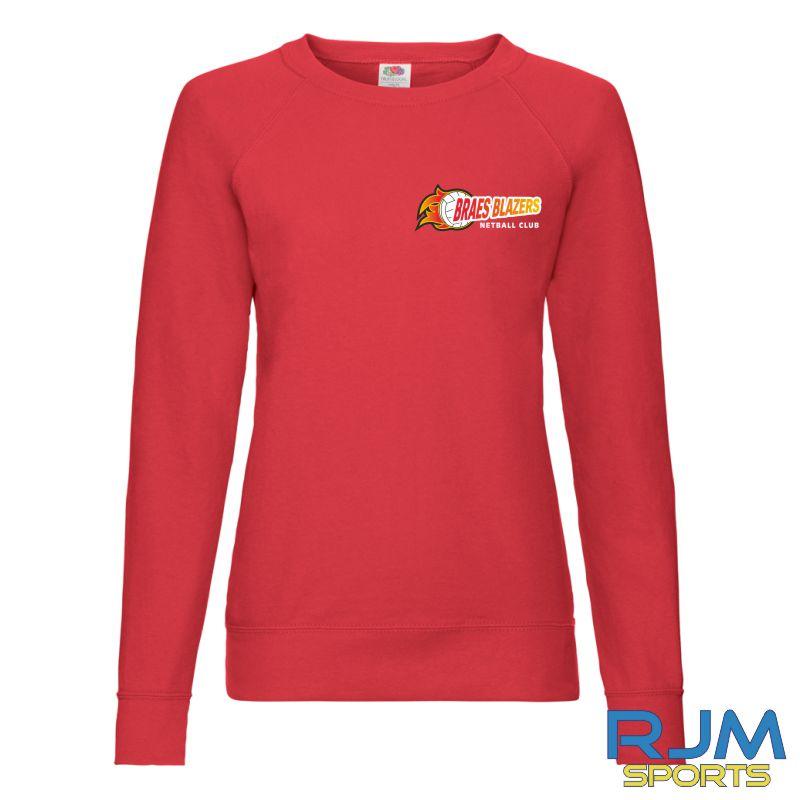 Braes Blazers FOTL Ladies Sweatshirt Red