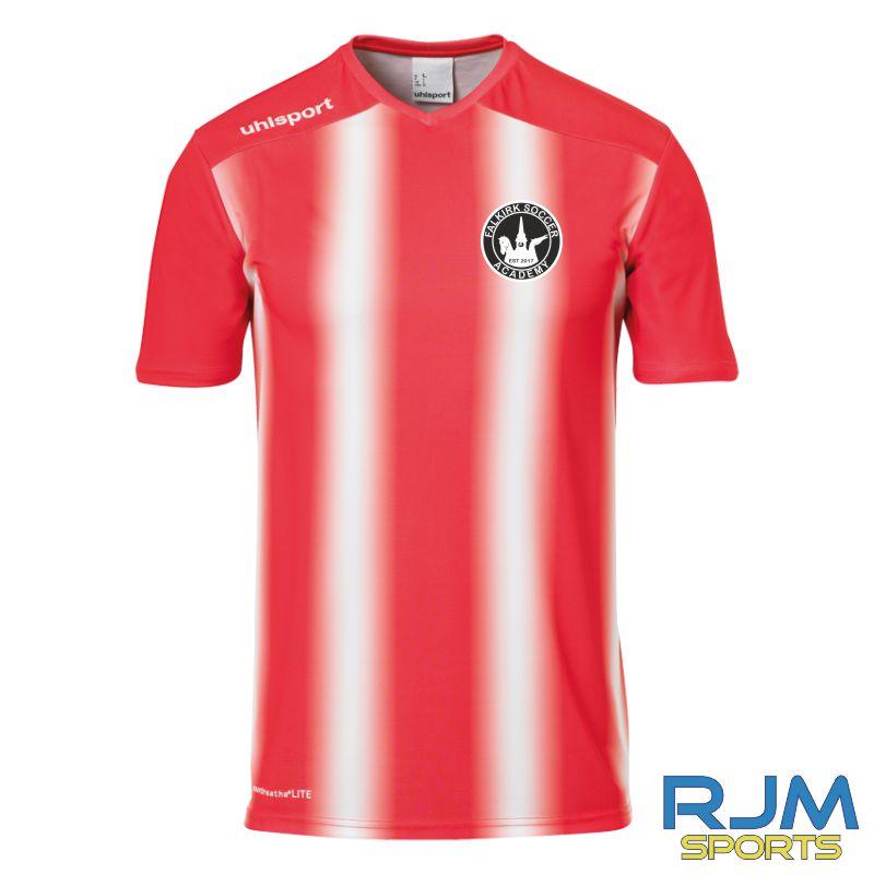 Falkirk Soccer Academy Uhlsport Stripe 2.0 Short Sleeve Home Shirt Red White