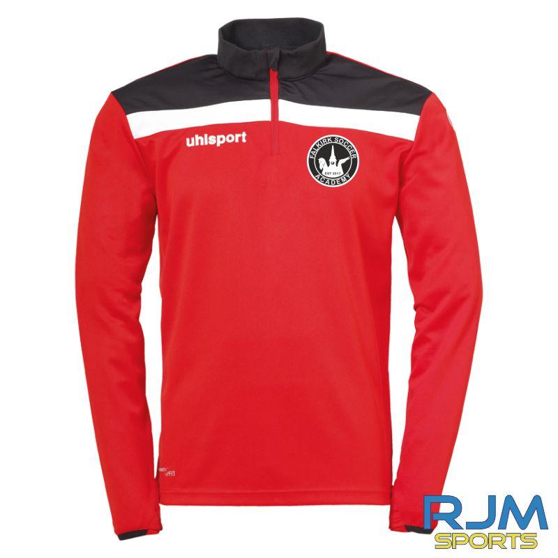 Falkirk Soccer Academy Uhlsport Offense 23 1/4 Zip Top Red Black White