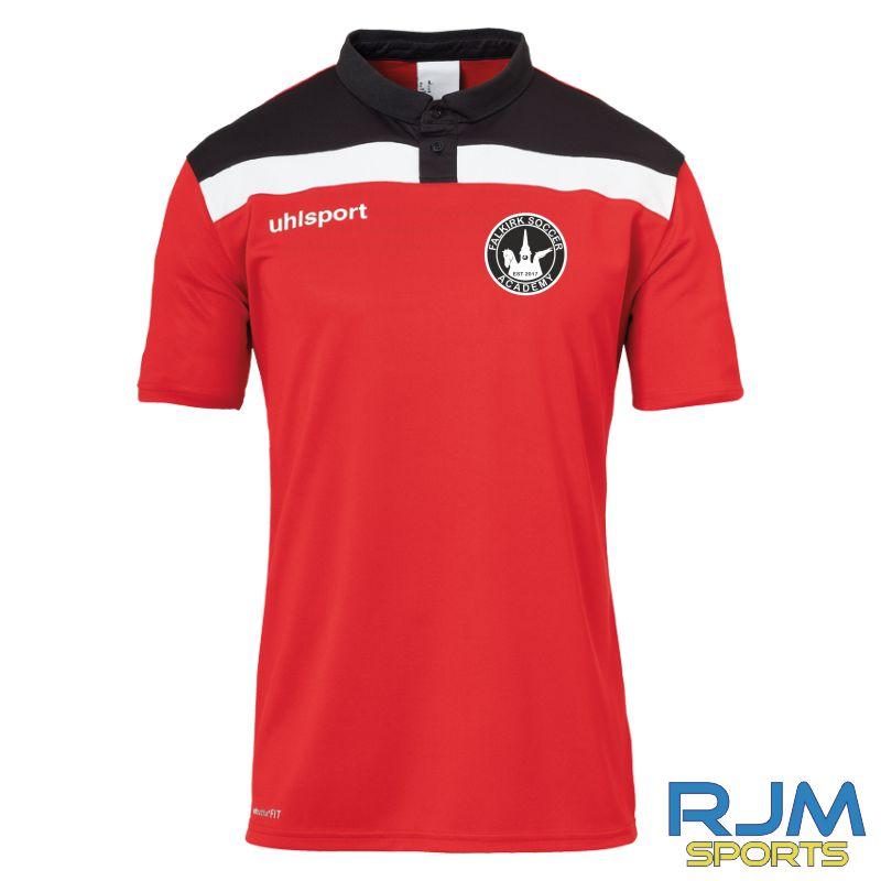 Falkirk Soccer Academy Uhlsport Offense 23 Polo Shirt Red Black White