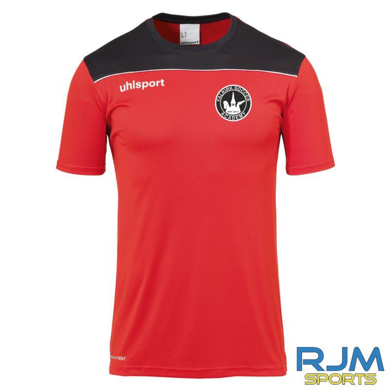 Falkirk Soccer Academy Uhlsport Offense 23 Short Sleeve Training Shirt Red Black White