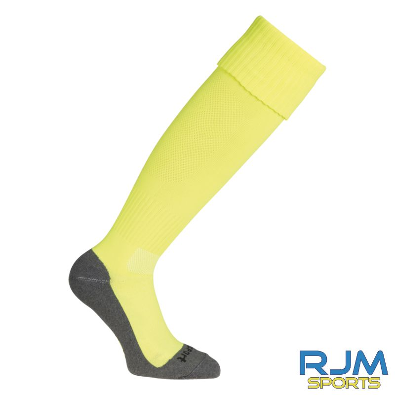 Falkirk Soccer Academy Uhlsport Team Pro Essential Home GK Socks Fluo Yellow