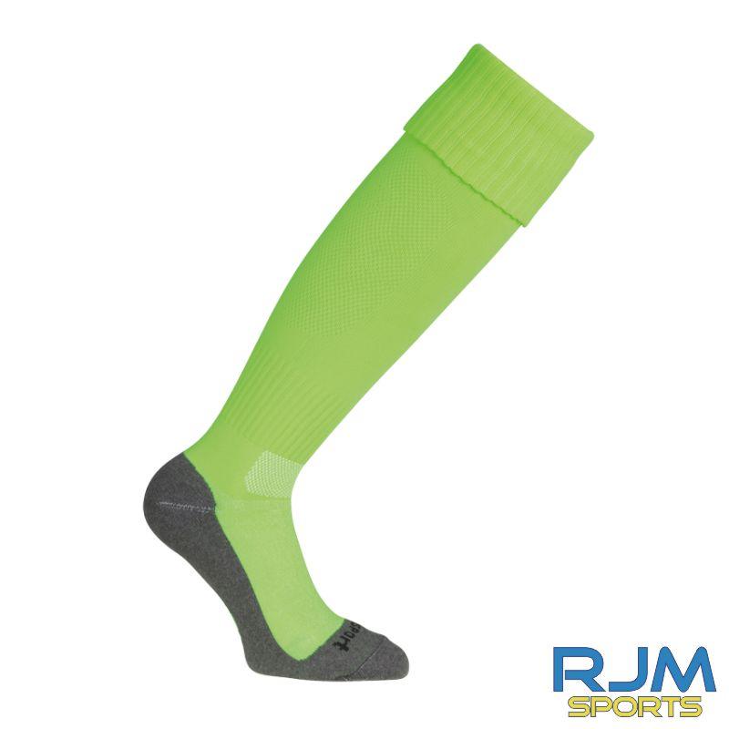 Falkirk Soccer Academy Uhlsport Team Pro Essential Away Socks Fluo Green