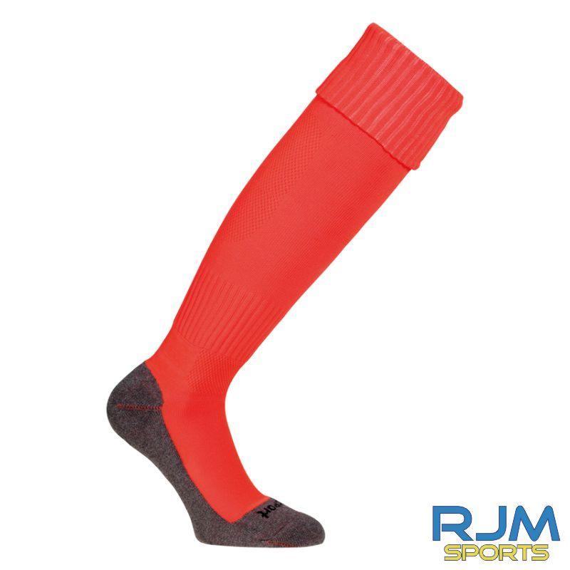 Falkirk Soccer Academy Uhlsport Team Pro Essential Away GK Socks Fluo Red