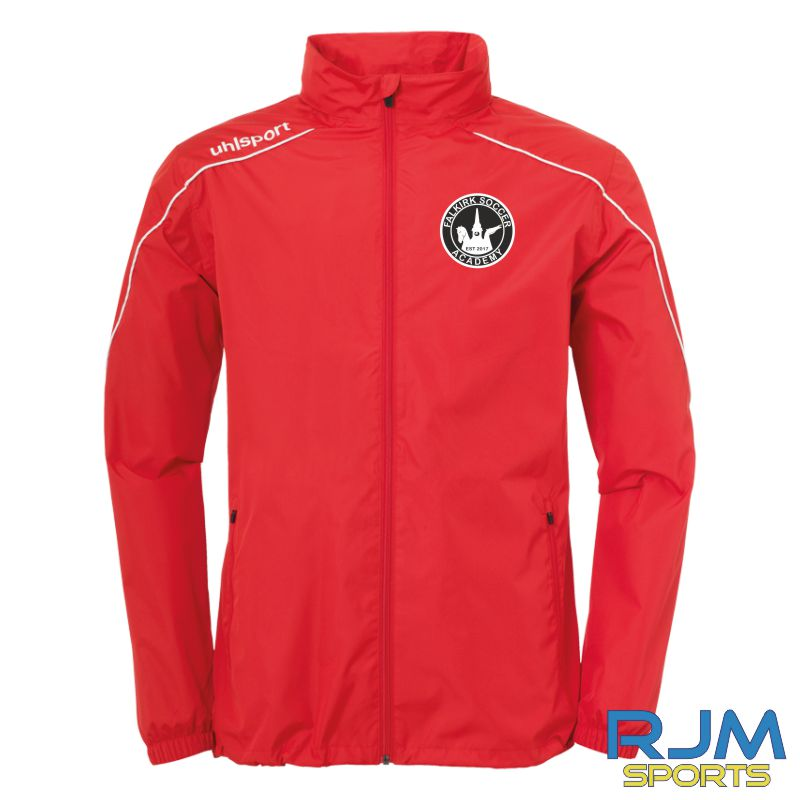 Falkirk Soccer Academy Uhlsport Stream 22 All-Weather Jacket Red White