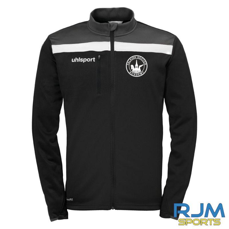Falkirk Soccer Academy Uhlsport Offense 23 Coaches Poly Jacket Black Anthra White