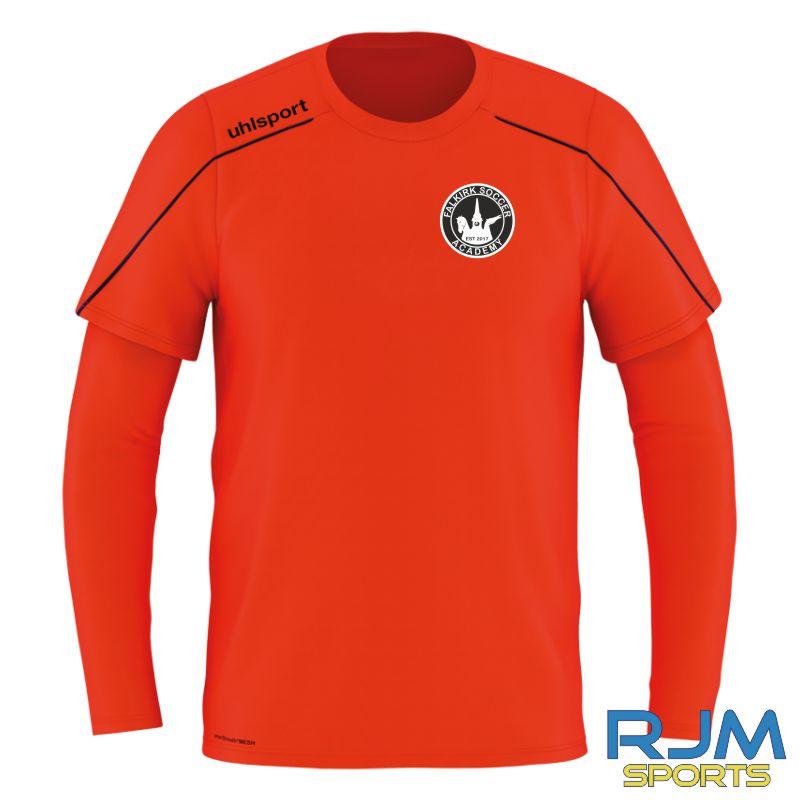 Falkirk Soccer Academy Uhlsport Stream 22 Away GK Shirt Fluo Red Navy