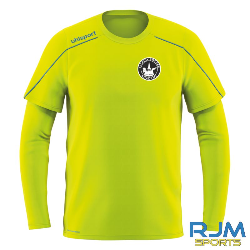 Falkirk Soccer Academy Uhlsport Stream 22 Home GK Shirt Fluo Yellow Radar Blue