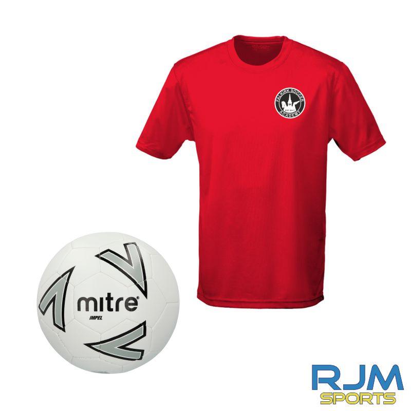 Falkirk Soccer Academy AWDis Tiny Tots T-Shirt & Mitre Football Various Colours