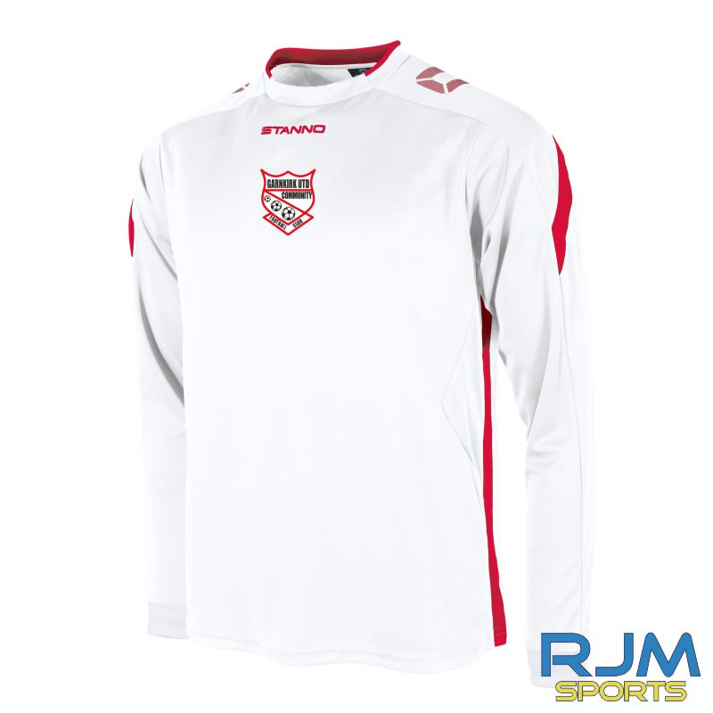 Garnkirk Community FC Stanno Away Drive Long Sleeve Shirt White Red