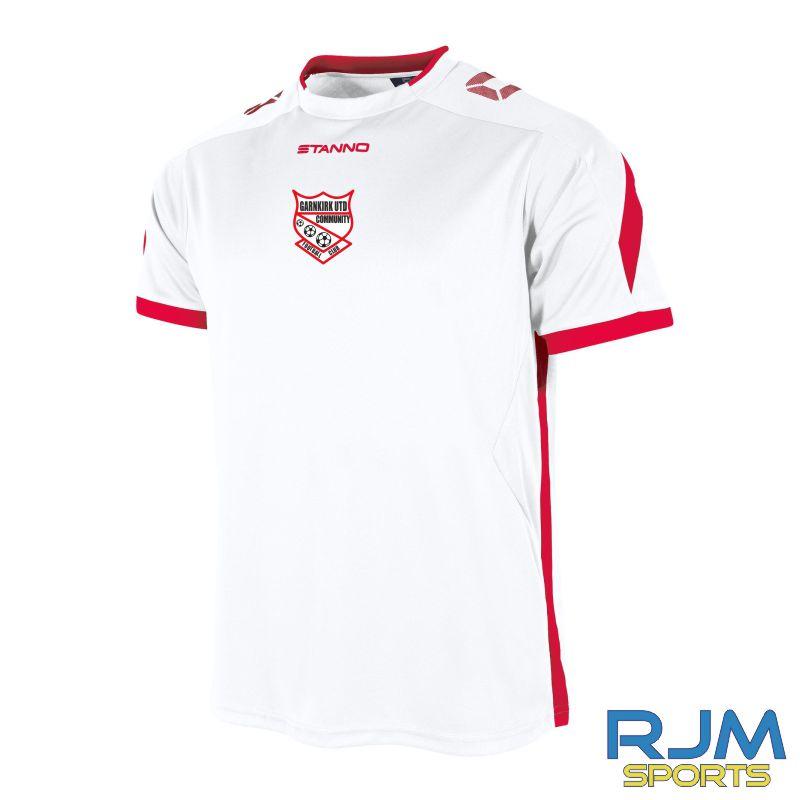 Garnkirk Community FC Stanno Away Drive Short Sleeve Shirt White Red