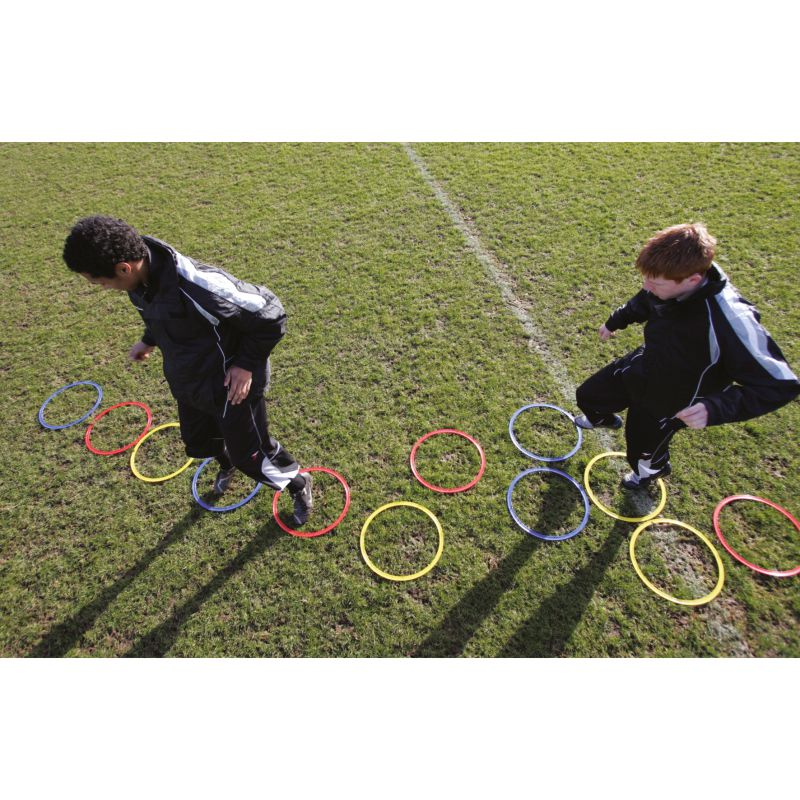 Precision Speed Agility Hoops (Set of 12) Multi Colour