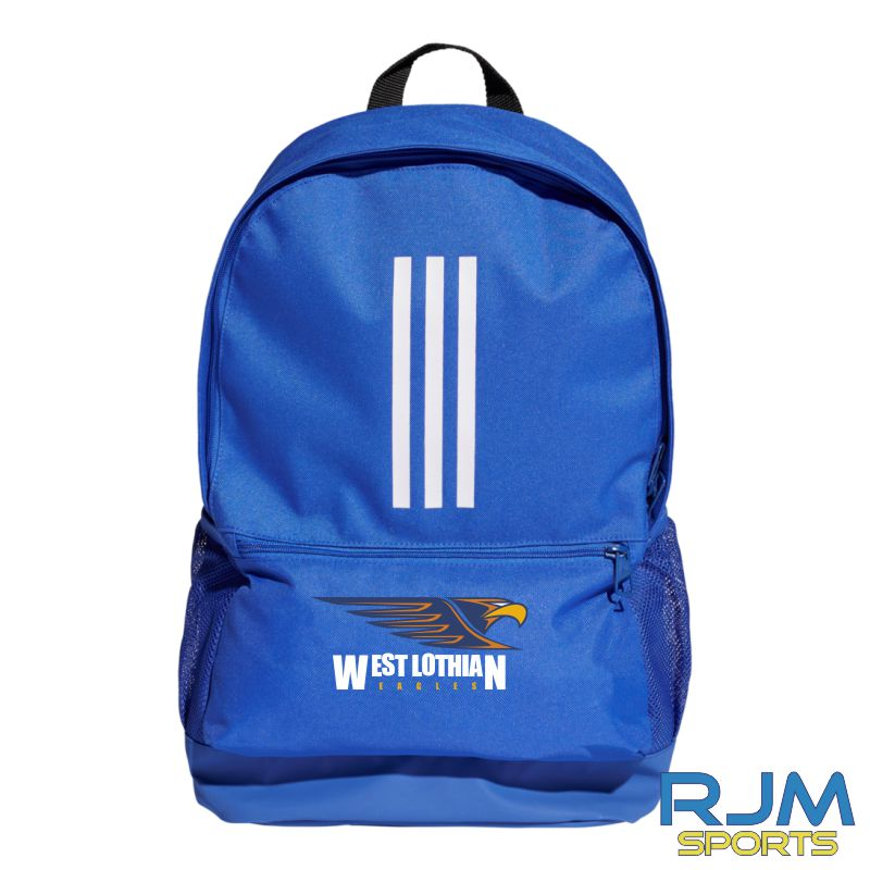 West Lothian Eagles Adidas Tiro Backpack Bold Blue White