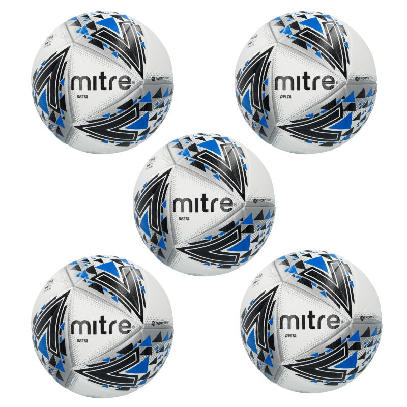 Mitre Delta White Black Blue 5 Football Deal Size 5