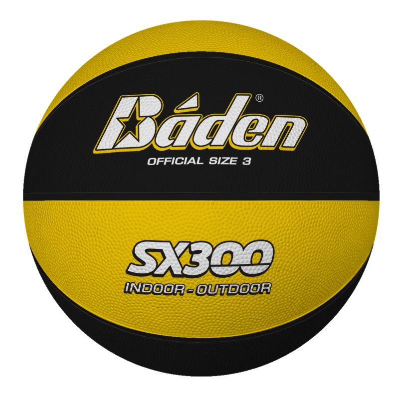 Baden Rubber Coloured Basketball Size 3 Yellow Black