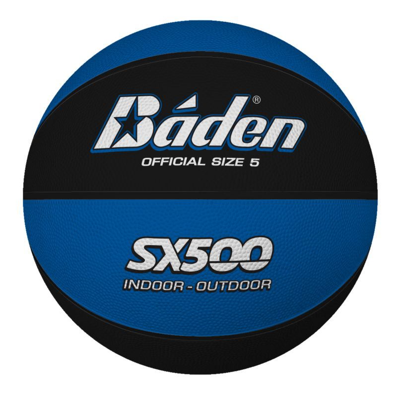 Baden Rubber Coloured Basketball Size 5 Blue Black
