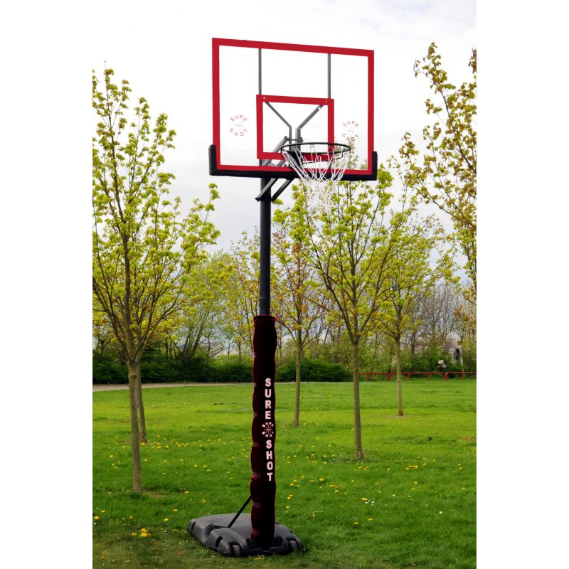 Sure Shot Quick Adjust Portable Basketball System with Acrylic Backboard