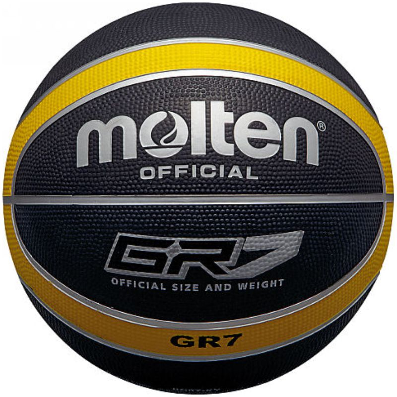 Molten Rubber Basketball Black Yellow