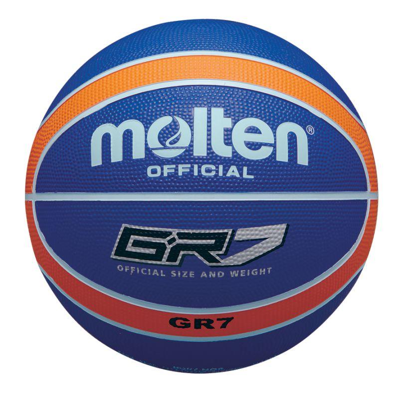 Molten Rubber Basketball Blue Orange