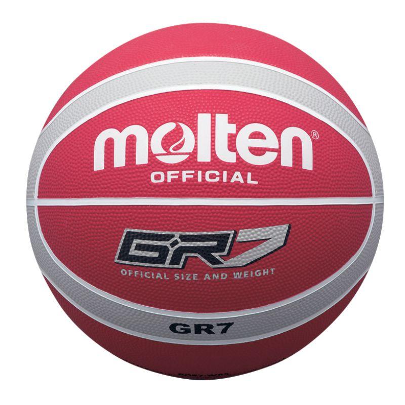 Molten Rubber Basketball Red Silver
