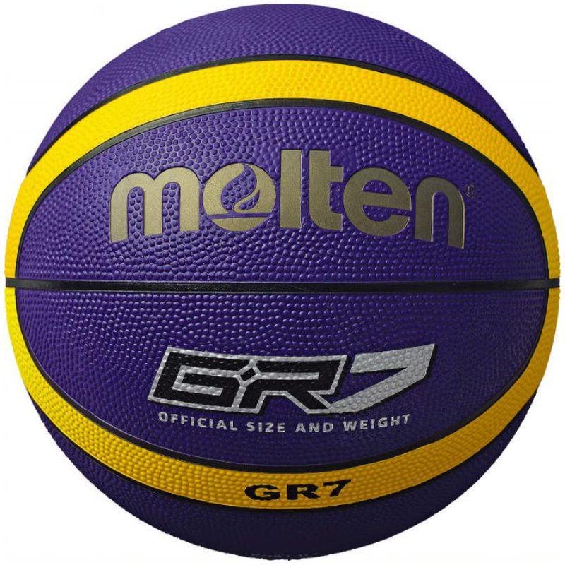 Molten Rubber Basketball Purple Yellow