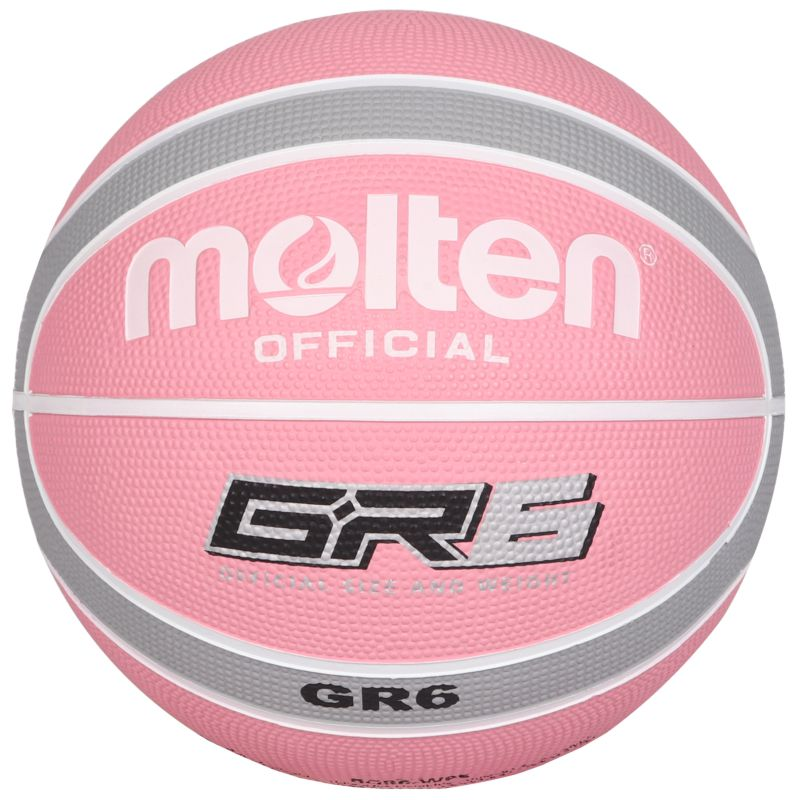 Molten Rubber Basketball Pink Silver