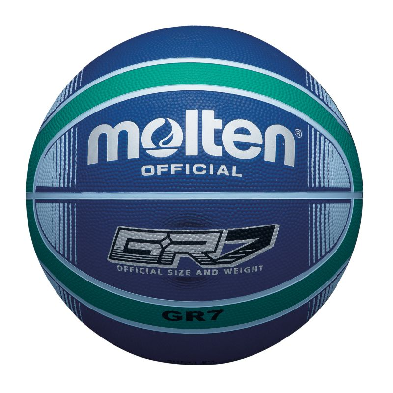 Molten Rubber Basketball Blue Green