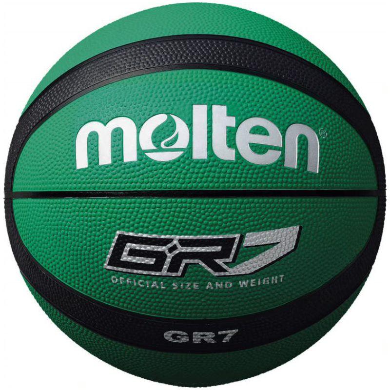 Molten Rubber Basketball Green Black