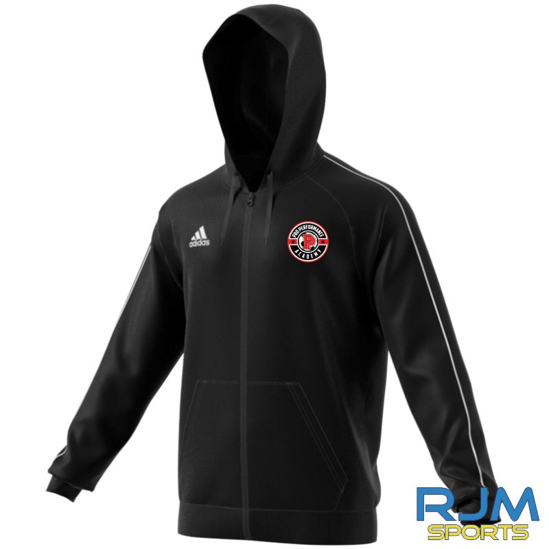 PPA Goalkeeping Adidas Core 18 Full Zip Hoody Black/White