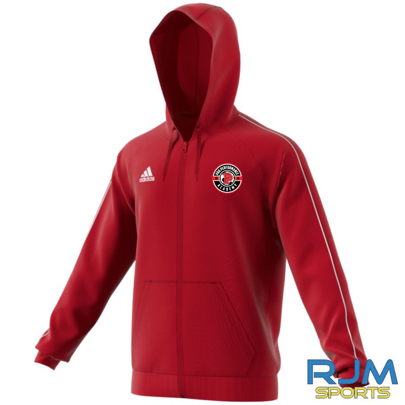 PPA Goalkeeping Adidas Core 18 Full Zip Hoody Power Red/White