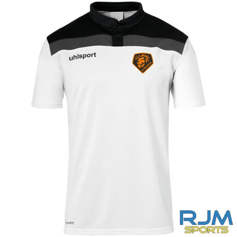 SJFC Uhlsport Offense 23 Polo Shirt Black/Anthra/White