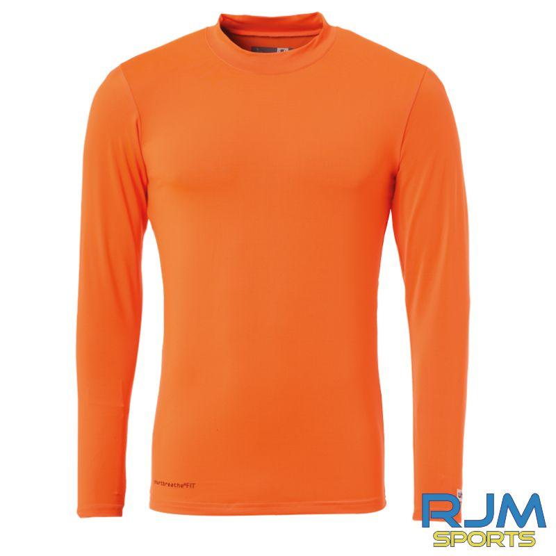 SJFC Uhlsport Distinction Colors Long Sleeve Baselayer Fluo Orange
