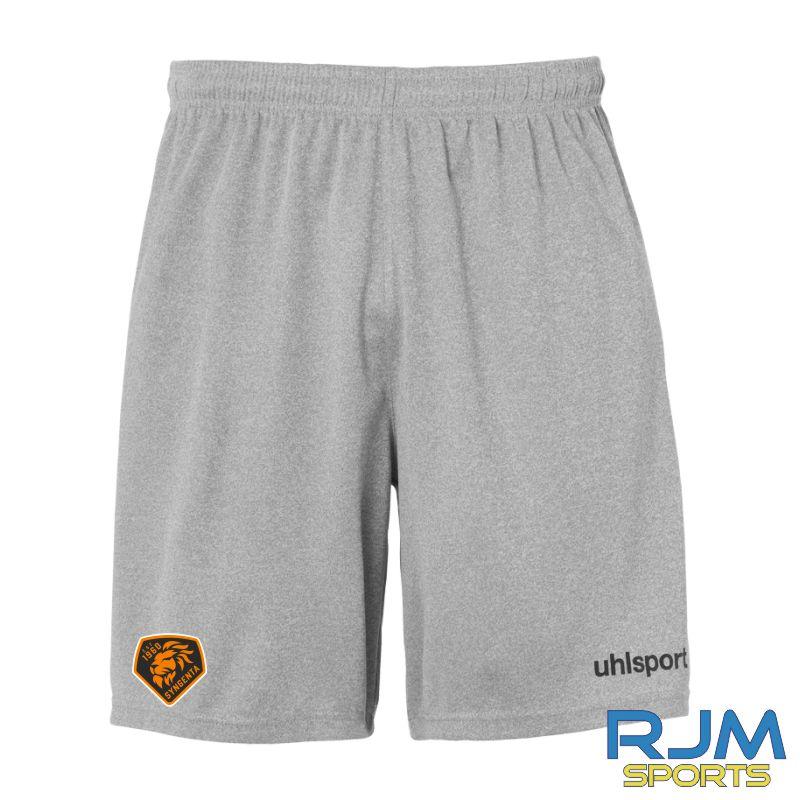 SJFC Uhlsport Centre Basic Training Shorts Dark Grey Melange/Black