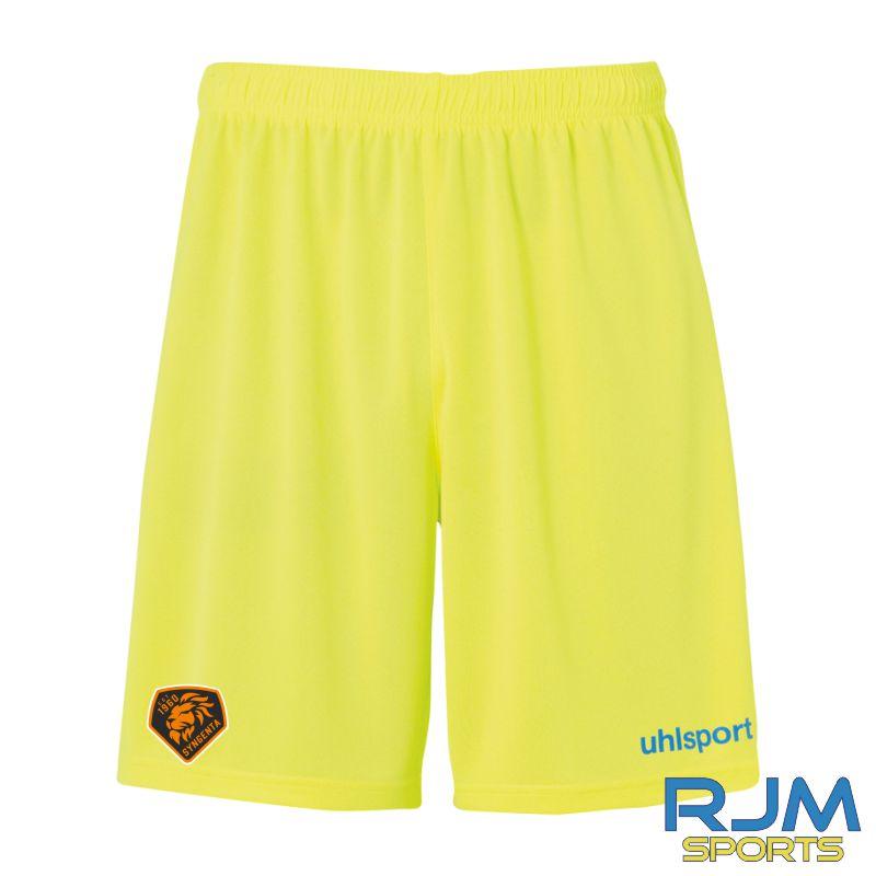 SJFC Uhlsport Centre Basic GK Training Shorts Fluo Yellow/Blue