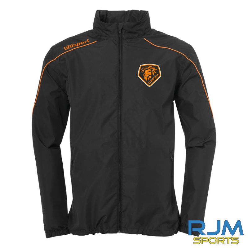 SJFC Uhlsport Stream 22 All Weather Jacket Black/Fluo Orange