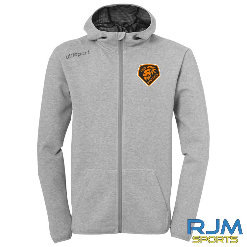 SJFC Uhlsport Essential Hood Jacket Dark Grey Melange