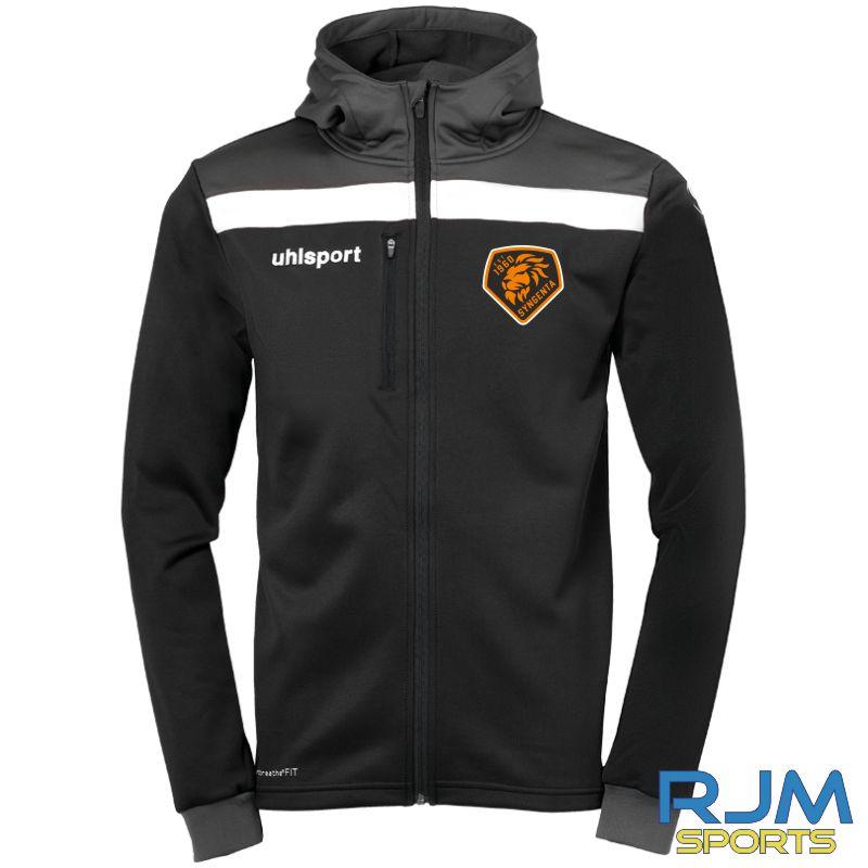 SJFC Uhlsport Offense 23 Multi Hood Jacket Black/Anthra/White